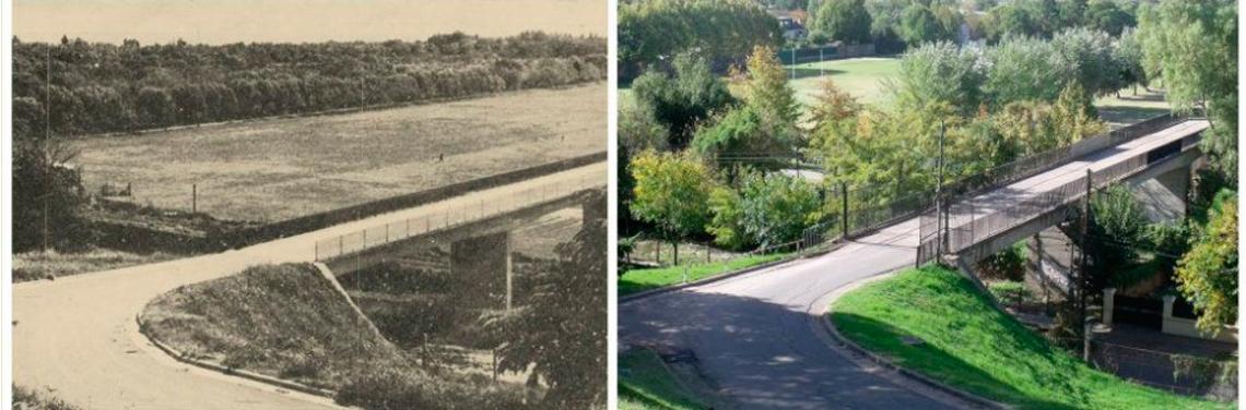 antes y despues del puente del bajo