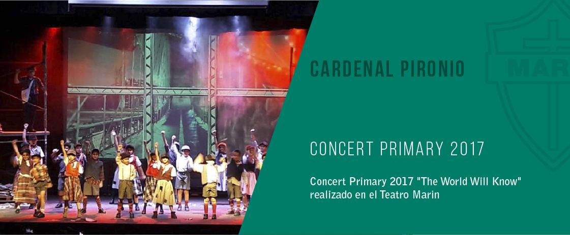 noticia concert primaria del colegio cardenal pironio