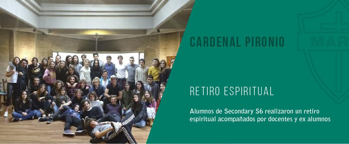noticia retiro espiritual del colegio cardenal pironio