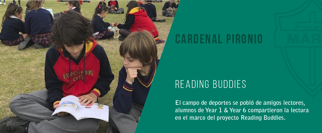 noticia reading buddies del colegio cardenal pironio