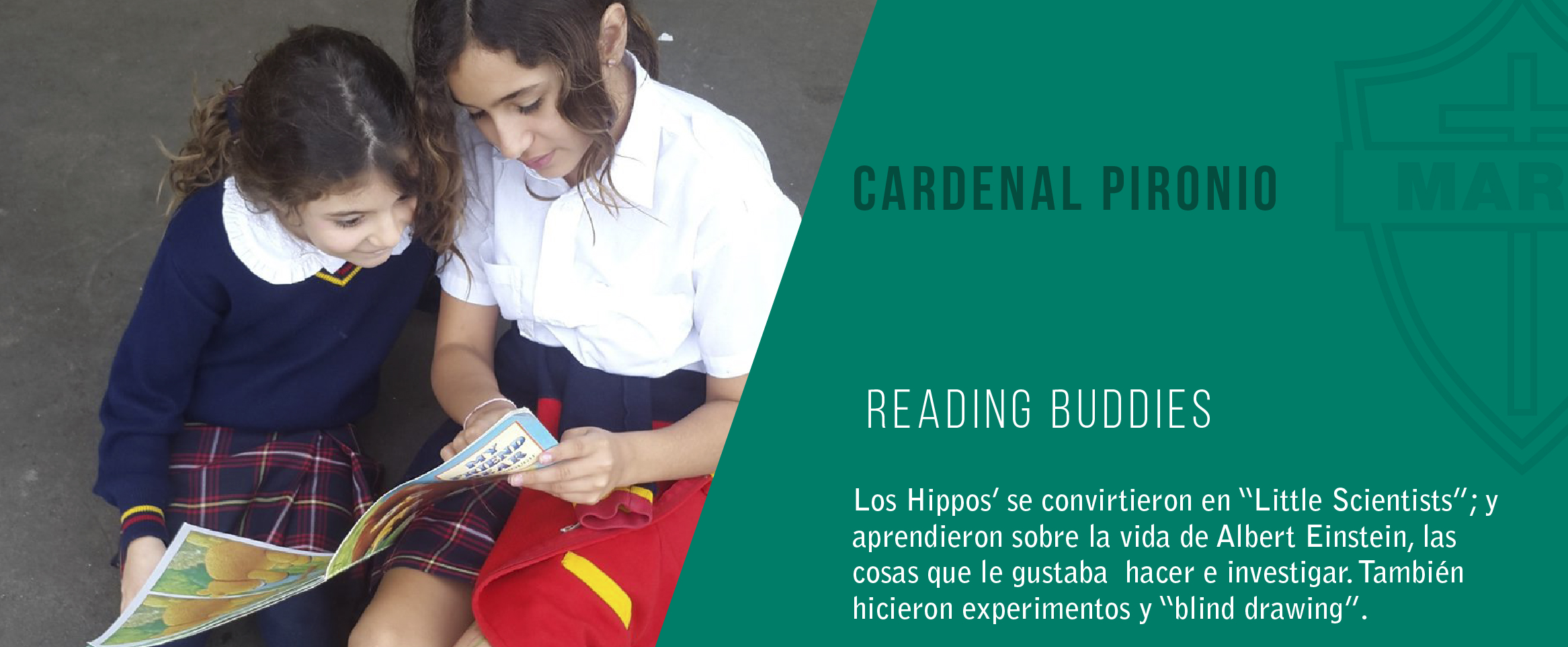 noticia reading buddies en el colegio plácido marín