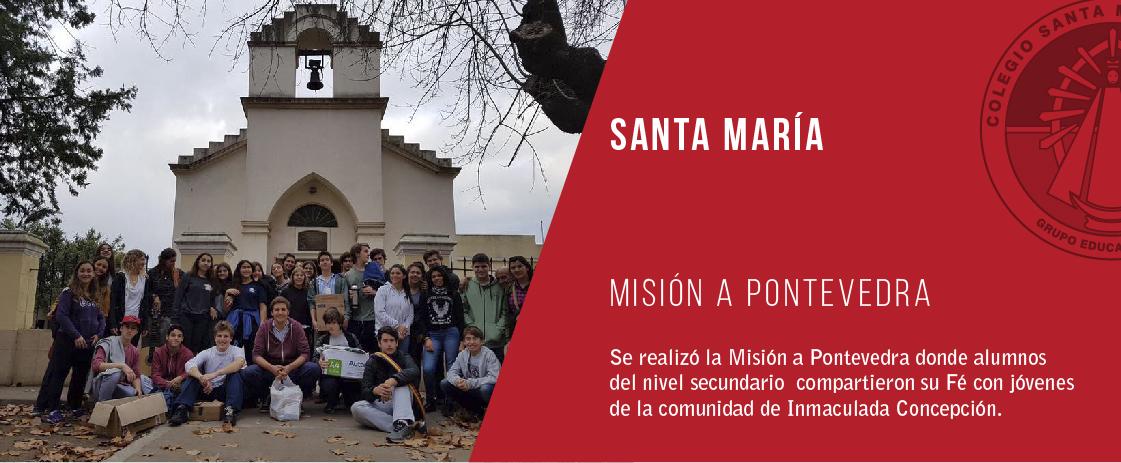 noticia misión a pontevedra del colegio santa maría de luján